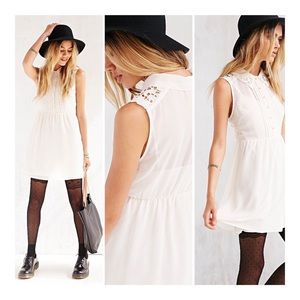 Urban Outfitters COPE ivory sheer dress Sz M